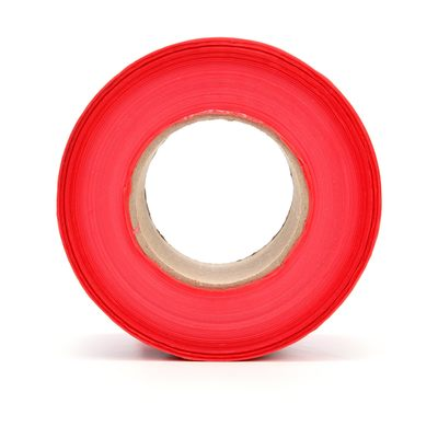 3M 357-R-3X300FT 3M 357 Scotch Red Barricade Caution Tape; 3 In x 1000 Ft