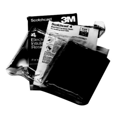 3M 4A 3M 4A Scotchcast™ Electrical Epoxy Insulating Resin; 3.1 oz, 2-Part Pouch, Black