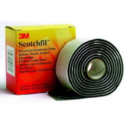 3M SCOTCHFIL-PUTTY 3M SCOTCHFIL Scotchfil™ Electrical Insulation Putty; 60 Inch x 1.500 Inch, Putty Backing/Mastic Adhesive, Black