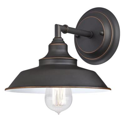 Angelo Brothers Co 6343500 6343500 WESTINGHOUSE 1 LIGHT WALL FIXTURE OIL RUBBED BRONZE FINISH WITH HIGHLIGHTS
