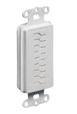 Arlington Fittings CED130 Arlington CED130 1-Gang Cable Entry Device With Slotted Cover; White