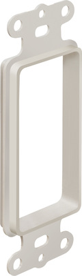 Arlington Fittings CED13BL Arlington CED13BL 1-Gang Low-Voltage Wall Plate; 1.450 Inch Width x 0.410 Inch Depth x 4.111 Inch Height, Wall Mount, Non-Metallic