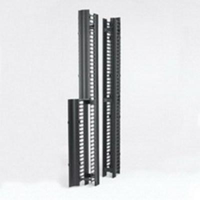 B-Line SB86086S084FB Cooper B-Line SB86086S084FB RCM+™ Cable Manager With Cover; Rack Mount, Flat Black, Aluminum Frame, Powder-Coated