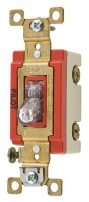 Bryant Electric Co 4903PLC120 4903PLC120 BRYANT 3 WAY TOG, IND GRD, 20A 120V, PL-CLR