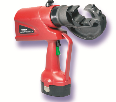 Burndy PAT750XT18VDC Hubbell Electrical / Burndy PAT750XT18VDC Patriot® In-Line® Hydraulic Self-Contained Battery Actuated Crimping Tool; 18 Volt DC, 12 ton, Ni-MH Battery