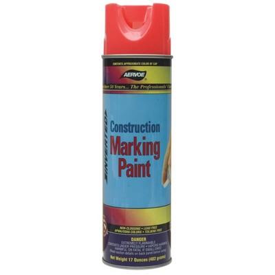 Dottie Co L.h. 283 Aervoe-Pacific 283 Construction Marking Paint; 20 oz, Aerosol Spray Can, HD Fluorescent Red-Orange