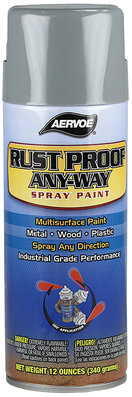 Dottie Co L.h. 349 Aervoe-Pacific 349 Rust Proof Any-Way Spray Paint; 16 oz, Aerosol Spray Can, Meter Gray