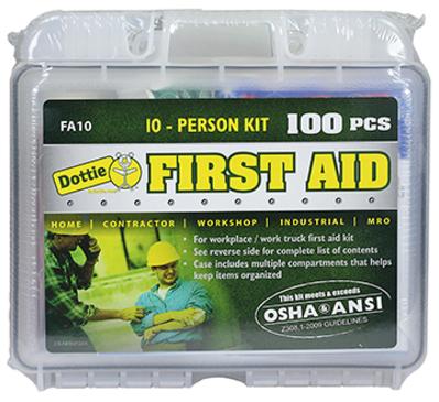 Dottie Co L.h. FA10 L.H. Dottie FA10 First Aid Kit; 100 Piece