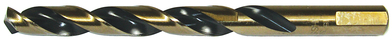 Dottie Co L.h. HS16 L.H. Dottie HS16 HSS 3-Flat Shank Split Point Jobber Length Drill Bit; 1/4 Inch, 4 Inch OAL, Black and Gold Oxide