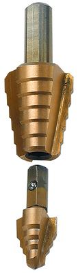 Dottie Co L.h. RTTP6010 L.H. Dottie RTTP6010 Tip-Bit™ Step Drill Bit; 9/16 - 7/8 Inch Drill, 1/4 Inch Shank, M2 High Speed Steel, Titanium/Cobalt