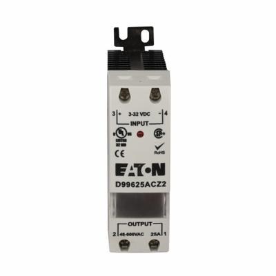Eaton / Cutler Hammer D99640ACZ2 Eaton / Cutler Hammer D99640ACZ2 D99 Series Solid State Relay; 3 - 32 Volt DC Input, 48 - 600 Volt AC Output, 40 Amp, DIN Rail/Panel Mount