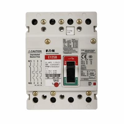 Eaton / Cutler Hammer EGB4100AFGV EGB4100AFGV EATON EG 100A ADJ THERMAL 4P % 50C 18KA BRKR