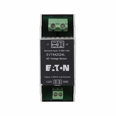 Eaton / Cutler Hammer EVT4-420-24L Eaton / Cutler Hammer EVT4-420-24L VoltageWatch™ Voltage Sensor; 24 Volt Loop Powered, 480 Volt AC, 4 - 20 Milli-Amp, Capped at 24 Milli-Amp Maximum