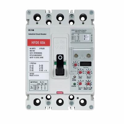 Eaton / Cutler Hammer HFDE316035 HFDE316035 EATON HFDE MCCB 65 KA @480V ETU LSG 3P 60-160A