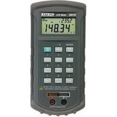 Extech 380193 FLIR (Extech) 380193 Passive Component LCR Meter; 120 Hz and 1 Kilo Hz, 20/200 Ohm, 2/20/200 kilo-ohm, 2/10 mega-ohm, +/- 0.5% + 8 Digit For 20/200 Ohm, 2/20 kilo-ohm; +/- 0.7% + Lx/10000 + 5 Digit For 2000 uH