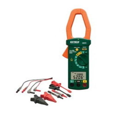 Extech 380976-K FLIR (Extech) 380976-K AC Rrms Power Clamp Meter Kit; 600 Volt AC/DC, 7000 uF