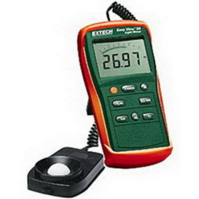 Extech EA30 FLIR (Extech) EA30 EasyView™ Light Meter; +/- 3% Reading + 0.5% Full Scale Accuracy, 5.900 Inch Width x 2.800 Inch Depth x 1.400 Inch Height, Silicon Photodiode, (6) AAA Battery