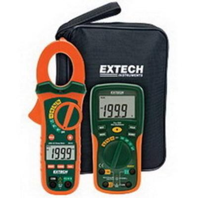 Extech ETK30 FLIR (Extech) ETK30 Electrical Test Kit; 600 Volt AC/DC, 10.000 Amp AC/DC (EX205T), 400 Amp AC (MA430)