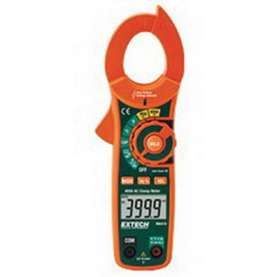 Extech MA410 FLIR (Extech) MA410 AC Clamp Meter With Built-In Non-Contact Voltage Detector; 4/40/400/600 Volt AC, 400 Milli-Volt, 4/40/400/600 Volt DC, 40 Amp AC, 400 Amp AC