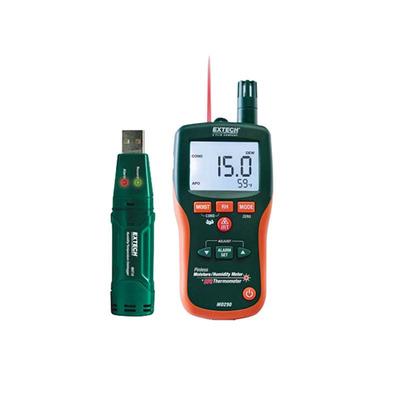 Extech MO290-RK FLIR (Extech) MO290-RK Water Restoration Contractor Kit; Pinless Moisture: 0 - 99% (Limited by Wood Type), Pin-Type Moisture: 6 - 40% (Wood), 13 - 99% (Materials)