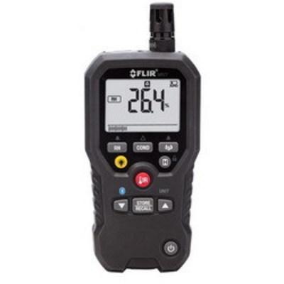 Extech MR77 FLIR (Extech) MR77 Pinless Moisture Meter/Pyschrometer; IR: -20 to 200 deg C/Sensor: -28 to 77 deg C Temperature, Pinless: 0 to 99.9/Pin: 0 to 99%WME Moisture Rating, 0 - 20 kPa Vapor Pressure