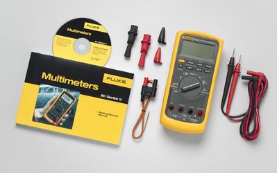 Fluke FLUKE-87-5/E2-KIT Fluke FLUKE-87-5/E2-KIT Industrial Electrician True RMS Multimeter Combo Kit; For Voltage, Current, Frequency and Capacitance Measurements For Everyday Use