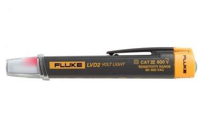 Fluke LVD2 Fluke LVD2 Pen Light Style Volt Light; 90 - 600 Volt AC, Glow Red Display