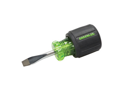 Greenlee 0153-28C Greenlee 0153-28C Heavy Duty Screwdriver; 3 Inch Overall Length, 1/4 Inch Tip