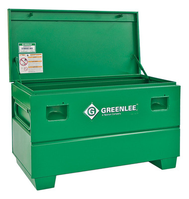 Greenlee 2448X Greenlee 2448X Storage Chest Assembly Without Tray; 16 Cubic-ft Storage, 48 Inch Width x 24 Inch Depth x 25 Inch Height, Steel, Green