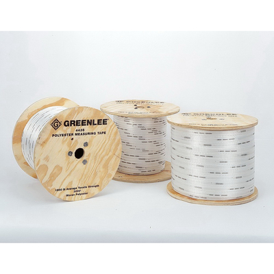 Greenlee 4435 Greenlee 4435 Durable Stretch Resistant Measuring Tape; 3000 ft, 0.500 Inch, High Strength Polyester