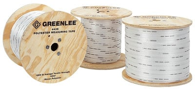 Greenlee 4436 Greenlee 4436 Durable Stretch Resistant Measuring Tape; 3000 ft, 0.625 Inch, High Strength Polyester