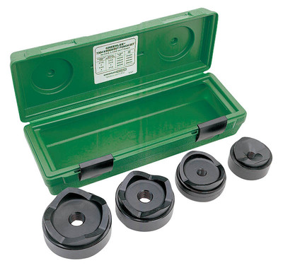 Greenlee 7304 Greenlee 7304 Round Standard Knockout Punch and Die Kit; 2-1/2 - 4 Inch Conduit/Pipe