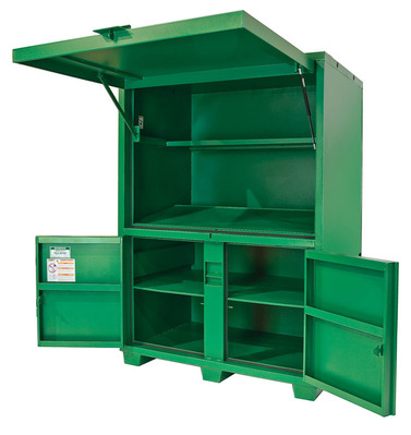 Greenlee 8060DLX Greenlee 8060DLX Field Office Box Assembly; 41.600 Overall Width x 55.600 Overall Depth x 80.000 Overall Height, 116.5 Cubic-ft, Steel, Green