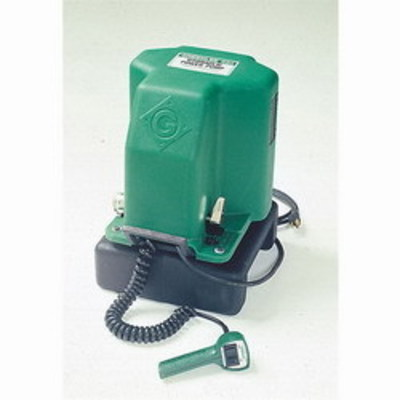 Greenlee 980 Greenlee 980 Electric Power Hydraulic Power Pump; For Use With Greenlee 2 Inch Capacity Benders, Single-Hose Hydraulic Systems With Spring-Return Rams, 12 Inch Length x 12 Inch Width x 17-1/2 Inch Height, 120 Volt AC