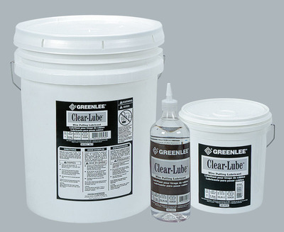 Greenlee CLR-5 Greenlee CLR-5 Clear Lube™ Non-Flammable Pulling Lubricant; 5 gal, Clear