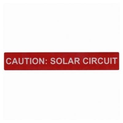 Hellermann Tyton 596-00247 Hellermann Tyton 596-00247 Pre-Printed Solar Label; 4 Inch Length x 6.500 Inch Width x 1 Inch Height, Vinyl