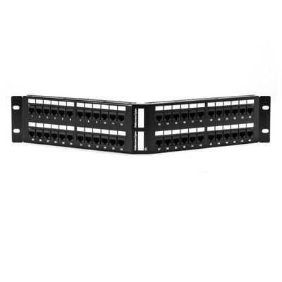 Hellermann Tyton APP110C648 Hellermann Tyton APP110C648 Category 6 Port Angled Patch Panel; 48-Port, 12 - 24 Rack Unit, Black