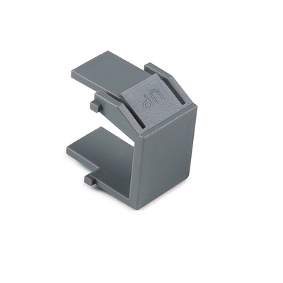 Hellermann Tyton BLANK-GRY Hellermann Tyton BLANK-GRY Reversible Blank Module; ABS, Gray, 10/Pack