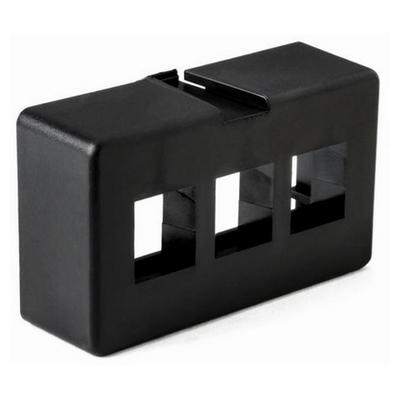 Hellermann Tyton FPFURN3-BLK Hellermann Tyton FPFURN3-BLK Modular Furniture Faceplate; (3) Port, PVC, Black