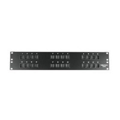 Hellermann Tyton P108-24-MOD Hellermann Tyton P108-24-MOD Category 5e RJ45 Modular Patch Panel; Cabinet/Rack/Wall Mount, 24-Port, Black