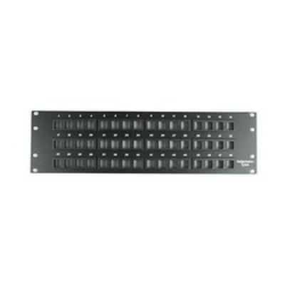 Hellermann Tyton P108-48-MOD Hellermann Tyton P108-48-MOD Category 5e RJ45 Modular Patch Panel; Cabinet/Rack/Wall Mount, 48-Port, 3-Rack Unit, Black