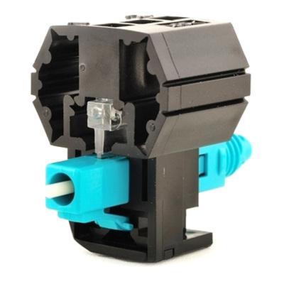 Hellermann Tyton PFCLC10G Hellermann Tyton PFCLC10G LC 10G 50/125 Multimode Fiber Connector; Pre Polished, Aqua