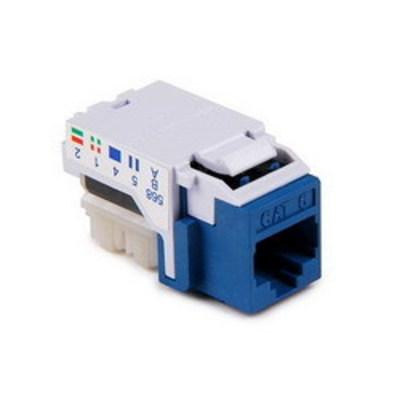Hellermann Tyton RJ45FC6-BLU Hellermann Tyton RJ45FC6-BLU Category 6 RJ45 Keystone Modular Jack; Blue