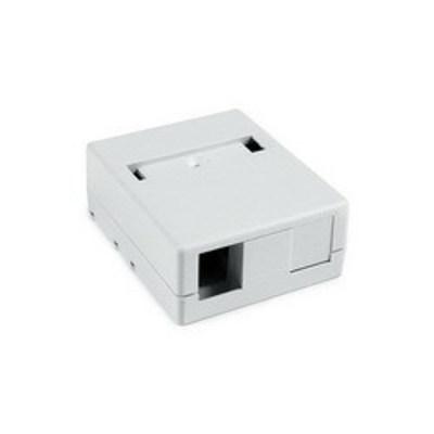 Hellermann Tyton SMBDUAL-W Hellermann Tyton SMBDUAL-W Surface Mount Box; Screw Mount, PVC, White, (2) Port