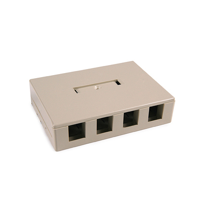 Hellermann Tyton SMBQUAD-I Hellermann Tyton SMBQUAD-I Surface Mount Box; PVC, Ivory, (4) Port