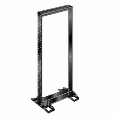 Hellermann Tyton T4RRB Hellermann Tyton T4RRB Single Frame Freestanding Relay Rack; 15 Inch Length x 20.19 Inch Width x 47.28 Inch Height, Powder Coated Aluminum