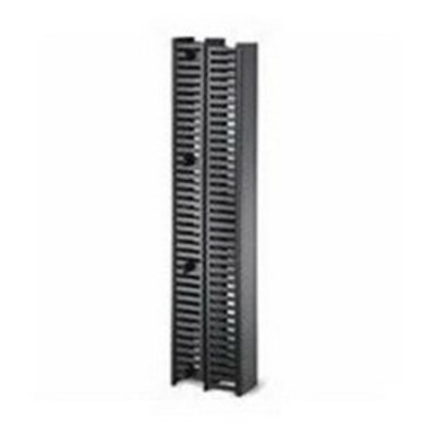 Hellermann Tyton VWMDC4X5BK Hellermann Tyton VWMDC4X5BK Dual-Sided Vertical Wire Manager; 4 Inch Front and Rear Width x 5 Inch Front/Rear Depth x 35 Inch Height, Black