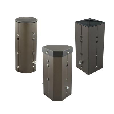 Hubbell Lighting SSS-T4-DB SSS-T4-DB HUB POLE ADAPTOR 4IN SQ STL OPN TOP BRZ
