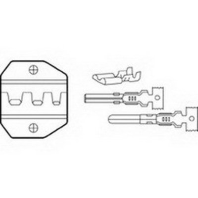 Ideal 30-586 Ideal 30-586 Replacement Die Set; 22-12 AWG, Steel