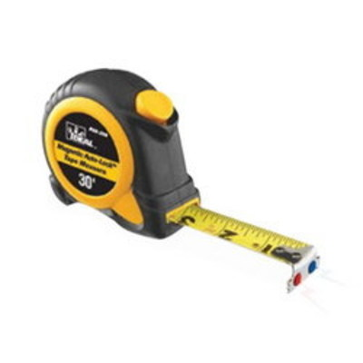 Ideal 35-238 Ideal 35-238 Mag-Tape Magnetic-Tip Power Retrac Measuring Tape; 30 ft x 4.5 Inch